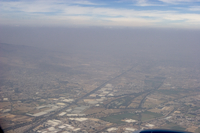 Aerial showing pollution over Mexico City (DI01476)