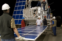 Solar panels fitted to the gondola (DI01641)