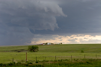 Storm gathers over farmland (DI01766)