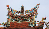 Temple roof, Kaohsiung, Taiwan (DI01818)
