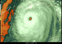Hurricane Katrina at or near peak intensity, water vapor band  (DI01932) Image generated by Jeff Weber