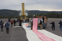 Laying out the Sunrise balloon (DI02015)