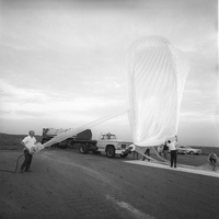 Preparations for balloon launch, 1965 (DI02055)