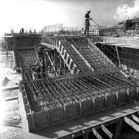 Construction of the NCAR Mesa Laboratory, 1965 (DI02057)