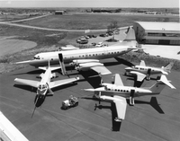 NCAR's fleet of research aircraft in 1984 (DI02062)