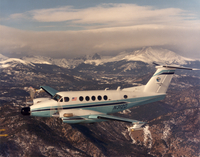 King Air in flight (DI02064)