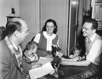 Janet and Walter Orr Roberts, CBS interview, circa 1945 (DI02066)