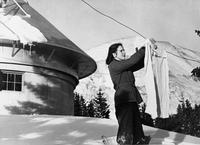 Janet Roberts at the Climax Observatory, circa 1945 (DI02071)