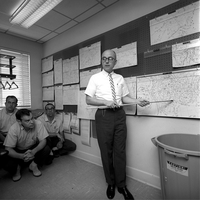 Weather briefing in 1965 (DI02082)