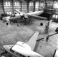 NCAR aircraft in Jeffco hangar, 1971 (DI02102 )