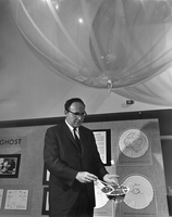 Vin Lally with GHOST balloon transmitter, 1968 (DI02117)