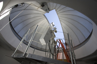Inside the small dome at Mauna Loa (DI02169)