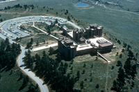 NCAR Mesa Laboratory: aerial view in summer (DI00209)