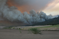 Wildfire in Great Sand Dunes National Park (DI02267) Photo by David Hosansky