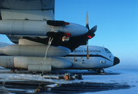 NCAR-NSF C130 on tarmac at Churchill, Manitoba TOPSE (DI00023) Photo by James Hannigan