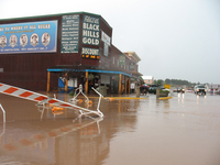 Street flooding in Custer, South Dakota (DI02559) Photo by David Hosansky