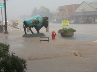 Street flooding in Custer, South Dakota (DI02560) Photo by David Hosansky