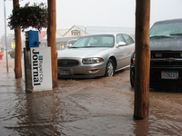 Street flooding in Custer, South Dakota (DI02561) Photo by David Hosansky