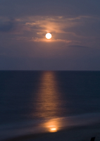 Moonrise over the Atlantic (DI02572) Photo by Carlye Calvin