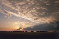 Sunset with mammatus clouds (DI02705), Photograph by Greg Thompson