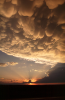 Sunset with mammatus clouds (DI02706), Photograph by Greg Thompson