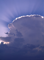 Cumulonimbus cloud with crepuscular rays (DI02709), Photograph by Greg Thompson