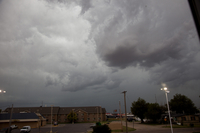 Storm clouds move over the small town of Salida, Kansas (DI02729), Photograph by Carlye Calvin