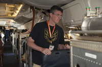 Scientist, Jeff Peischl, aboard the  G5 Gulfstream aircraft (DI02733), Photograph by Carlye Calvin