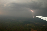 Lightning during a DC3 airborne mission (DI02761), Photograph by Carlye Calvin