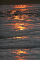 Ocean waves at sunset (DI01218)