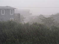 Heavy rain along the Outer Banks of North Carolina (DI01681)