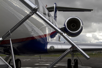 Close-up of the Gulfstream V in Alaska during HIPPO (DI02425)
