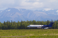 Gulfstream V landing in Anchorage during HIPPO (DI02427)
