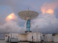 S-Pol radar in the Maldives (DI02470) Photo by Michael Dixon
