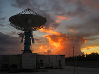 S-Pol radar in the Maldives (DI02471) Photo by Michael Dixon