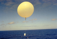 Weather balloon launch by researcher (DI00037)