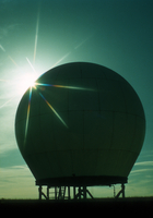 Radar dome with sunrise (DI00435)