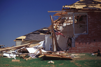 Tornado Damage (houses) in Moore, Oklahoma, May 3, 1999 (DI00498), Photo by Bob Henson