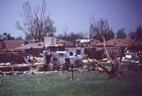 Tornado Damage (houses) in Moore, Oklahoma, May 3, 1999 (DI00499), Photo by Bob Henson