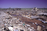 Tornado path in Moore, Oklahoma, May 3, 1999 (DI00500), Photo by Bob Henson