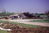 Tornado Damage (semi) in Moore, Oklahoma, May 3, 1999 (DI00501)