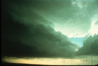 Weather conditions preceding the Limon Tornado, 6 June 1990, a time sequence (DI00533), Photo by Eugene McCaul