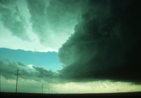 Weather conditions preceding the Limon Tornado, 6 June 1990, a time sequence (DI00535), Photo by Eugene McCaul