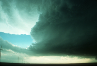 Weather conditions preceding the Limon Tornado, 6 June 1990, a time sequence (DI00536), Photo by Eugene McCaul