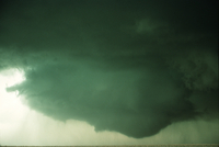 Weather conditions preceding the Limon Tornado, 6 June 1990, a time sequence (DI00539), Photo by Eugene McCaul
