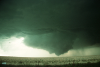 Weather conditions preceding the Limon Tornado, 6 June 1990, a time sequence (DI00540), Photo by Eugene McCaul