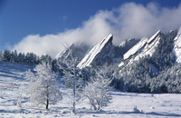 Snow: on the Flatirons, Boulder, Colorado (DI00564), Photo by Carlye Calvin