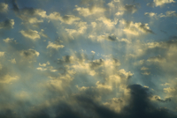 Altocumulus clouds with crepuscular rays (DI00673), Photo by Carlye Calvin