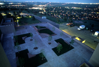 NCAR Mesa Laboratory: tree plaza night view (DI00713)