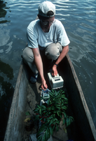Researcher in boat at EXPRESSO program (DI00772), Photo by Lee Klinger